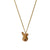Cute Brown Bunny Head Necklace