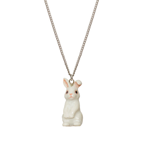 Cute White Bunny Necklace