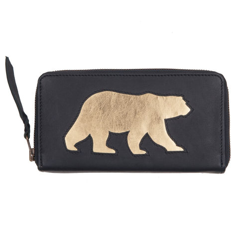 Navy Polar Bear Cut Out Purse