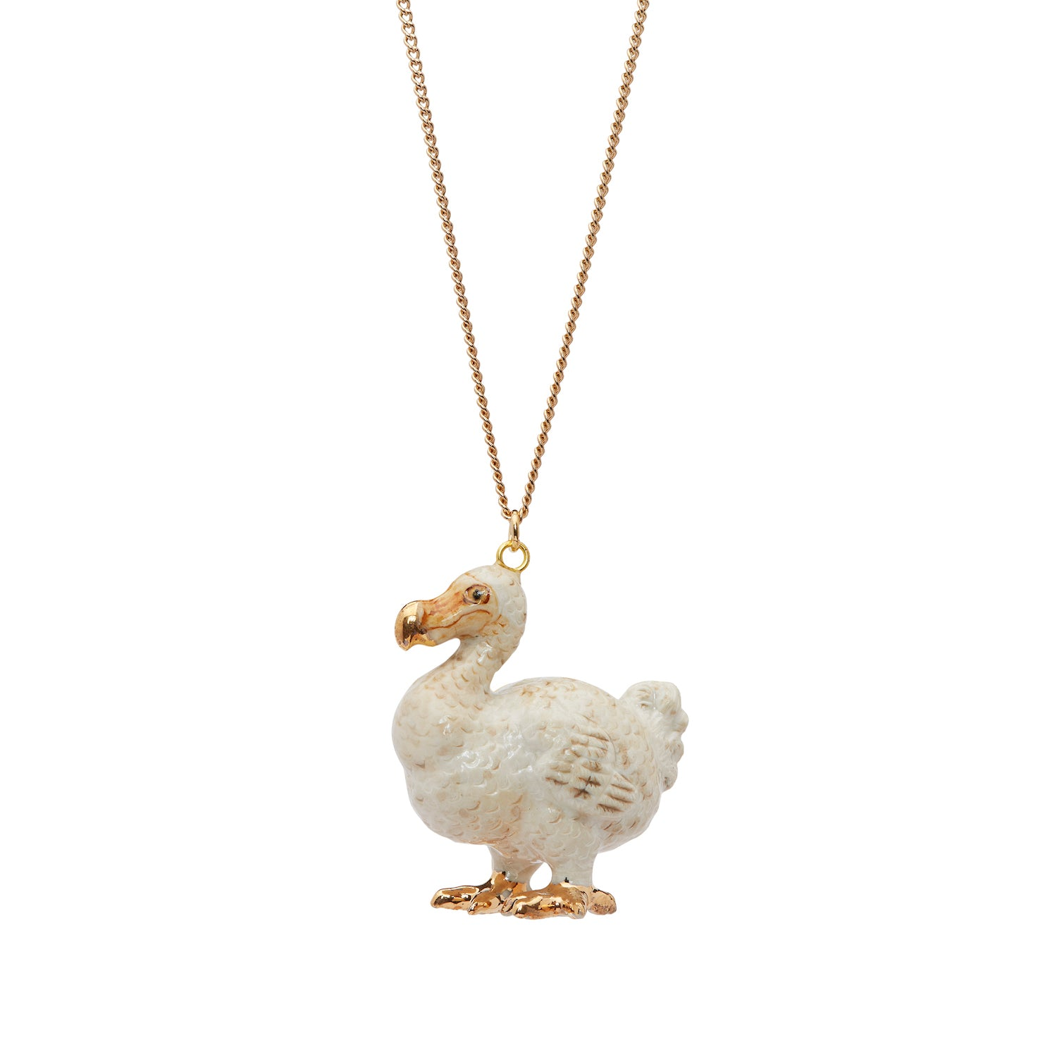 White and Gold Dodo Necklace