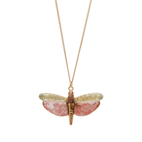 Dragonfly with Gold Necklace