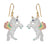 Flying Pastel Unicorn Earrings