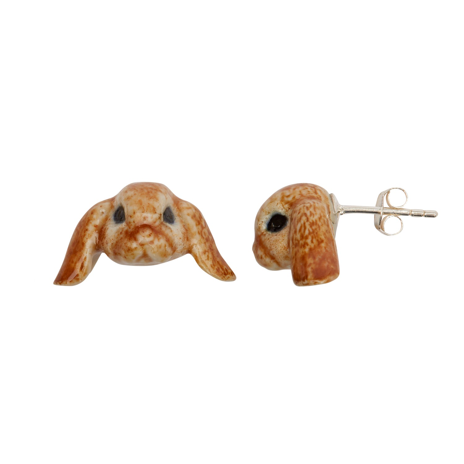 Floppy Eared Bunny Stud Earrings