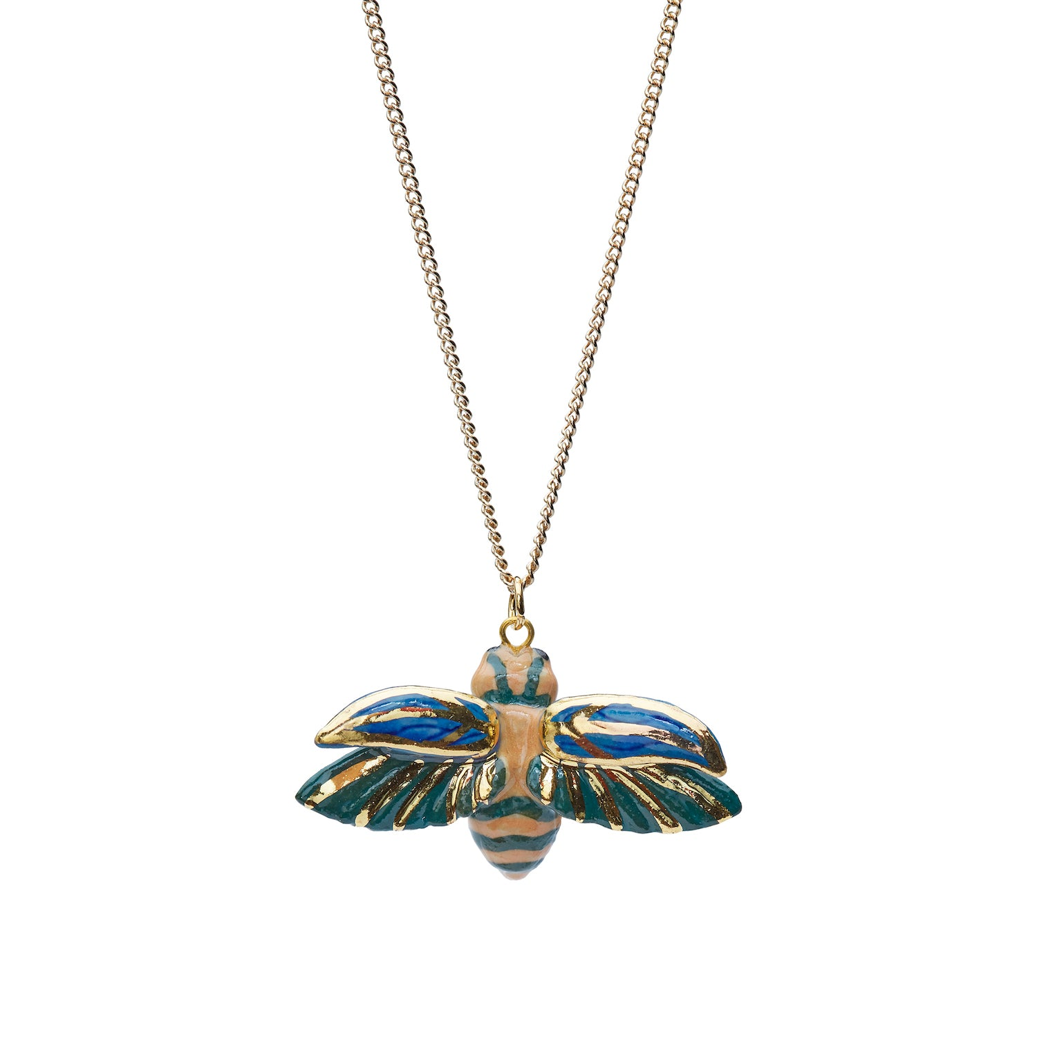 Flying Beetle Necklace