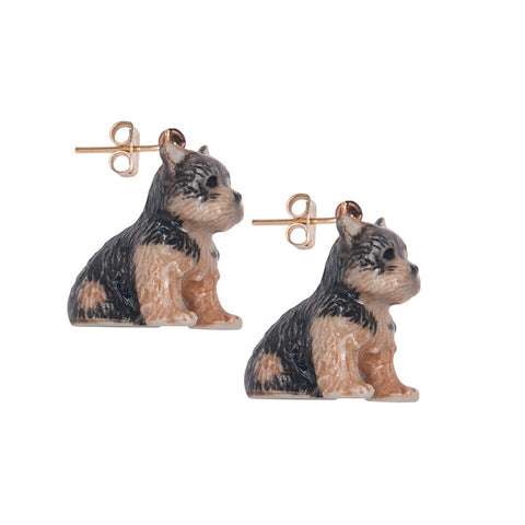 Yorkie Puppy Earrings