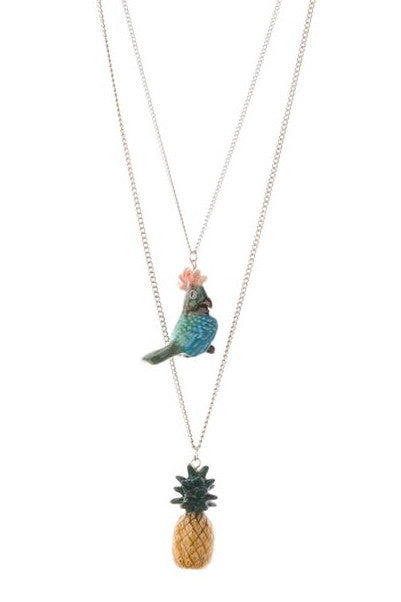 Double Tropical Necklace