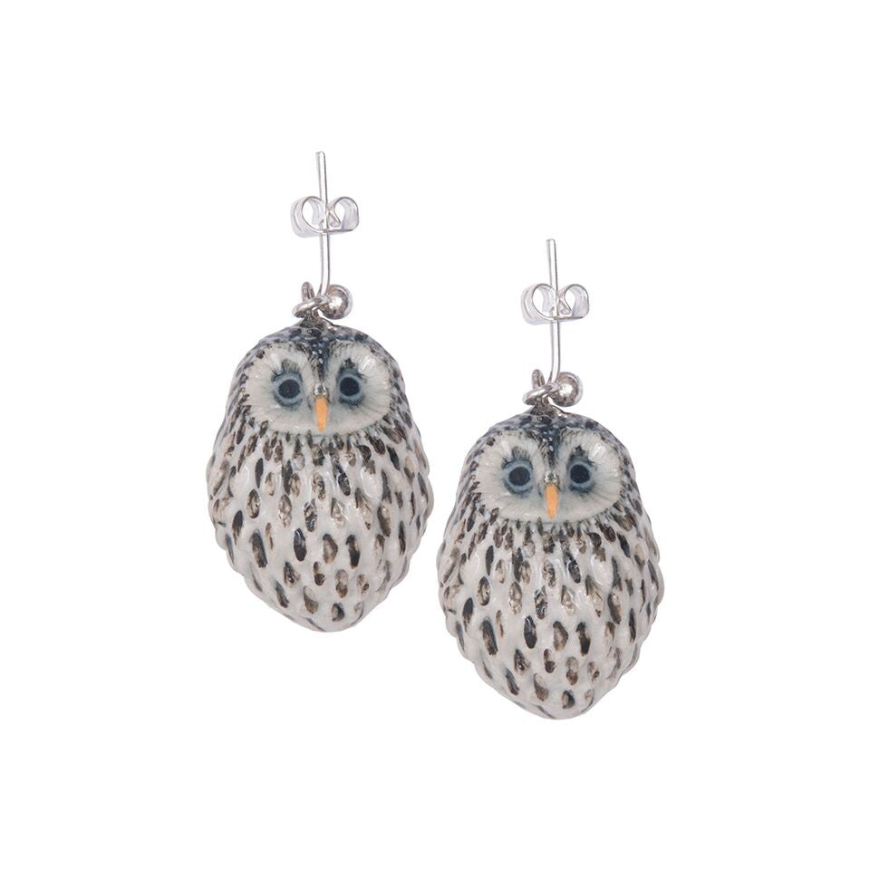 Baby Snow Owl Earrings