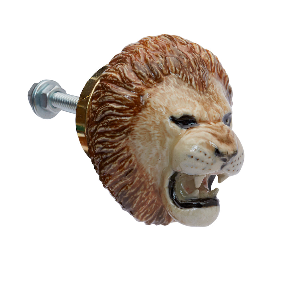Roaring Lion Head Doorknob