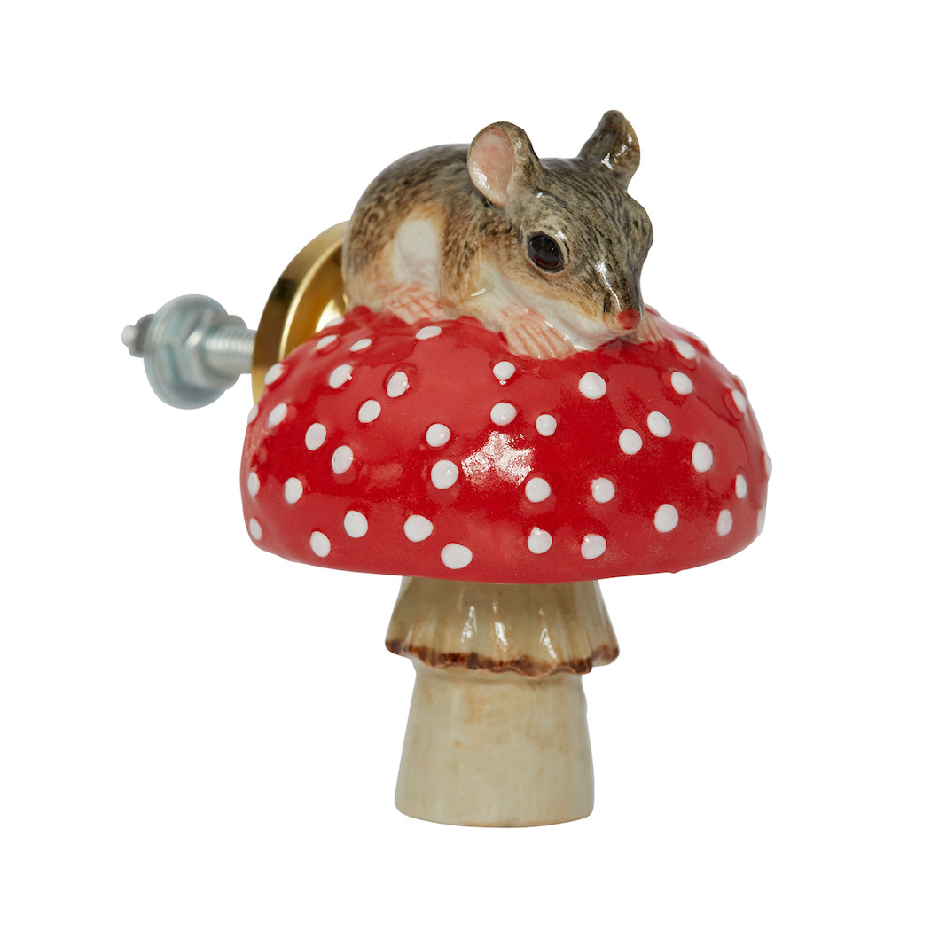 Mouse on Toadstool Doorknob