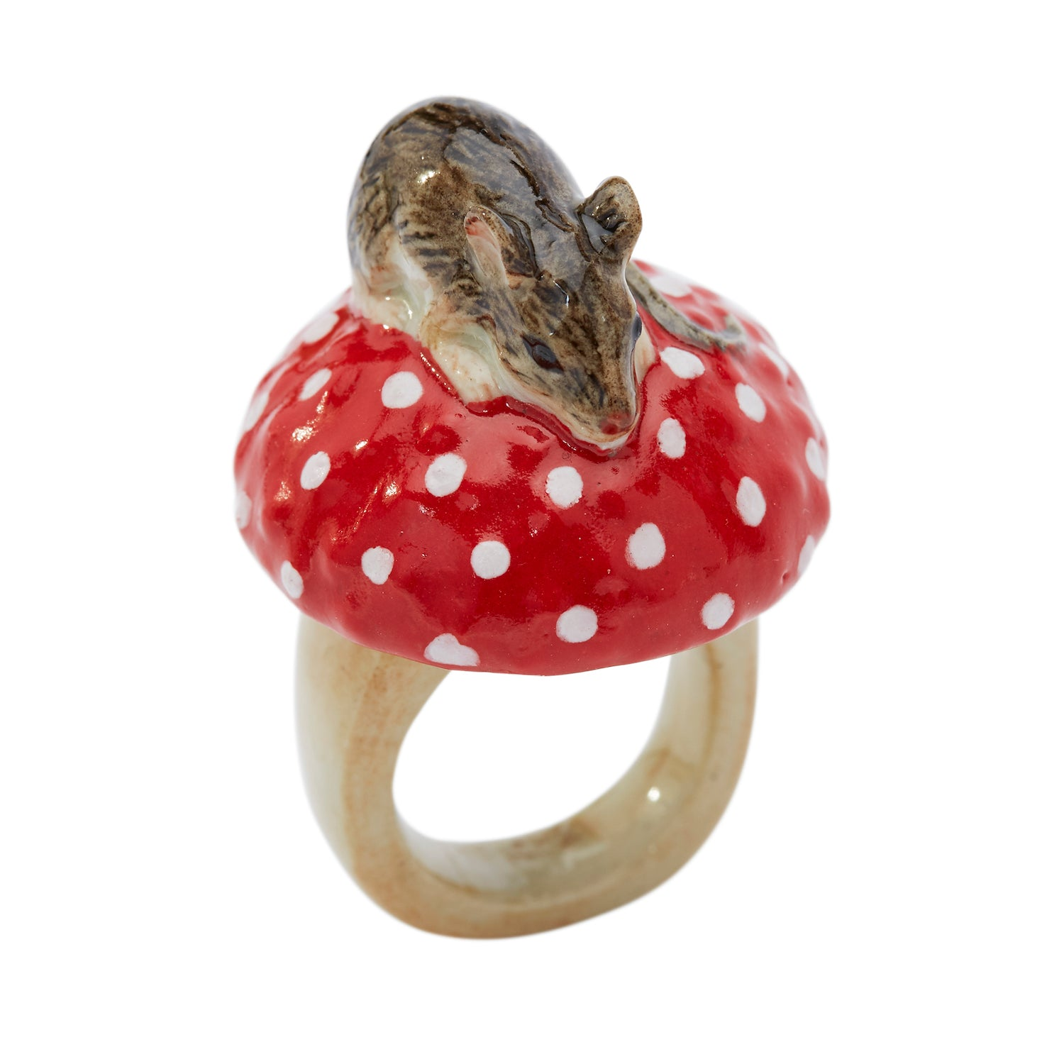 Mouse and Toadstool Ring