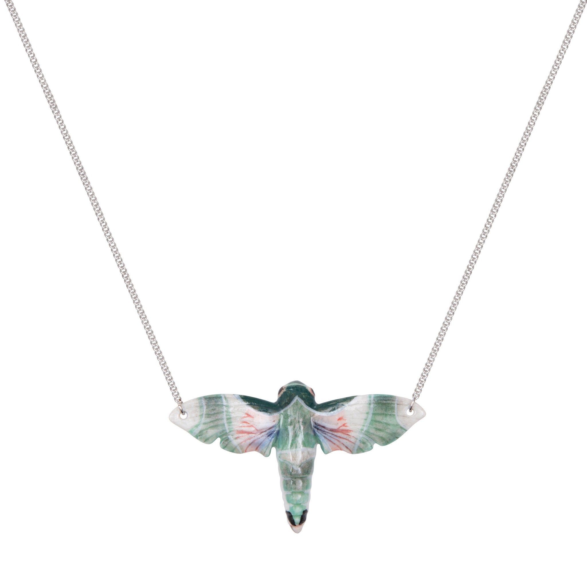 Natural Moth Necklace
