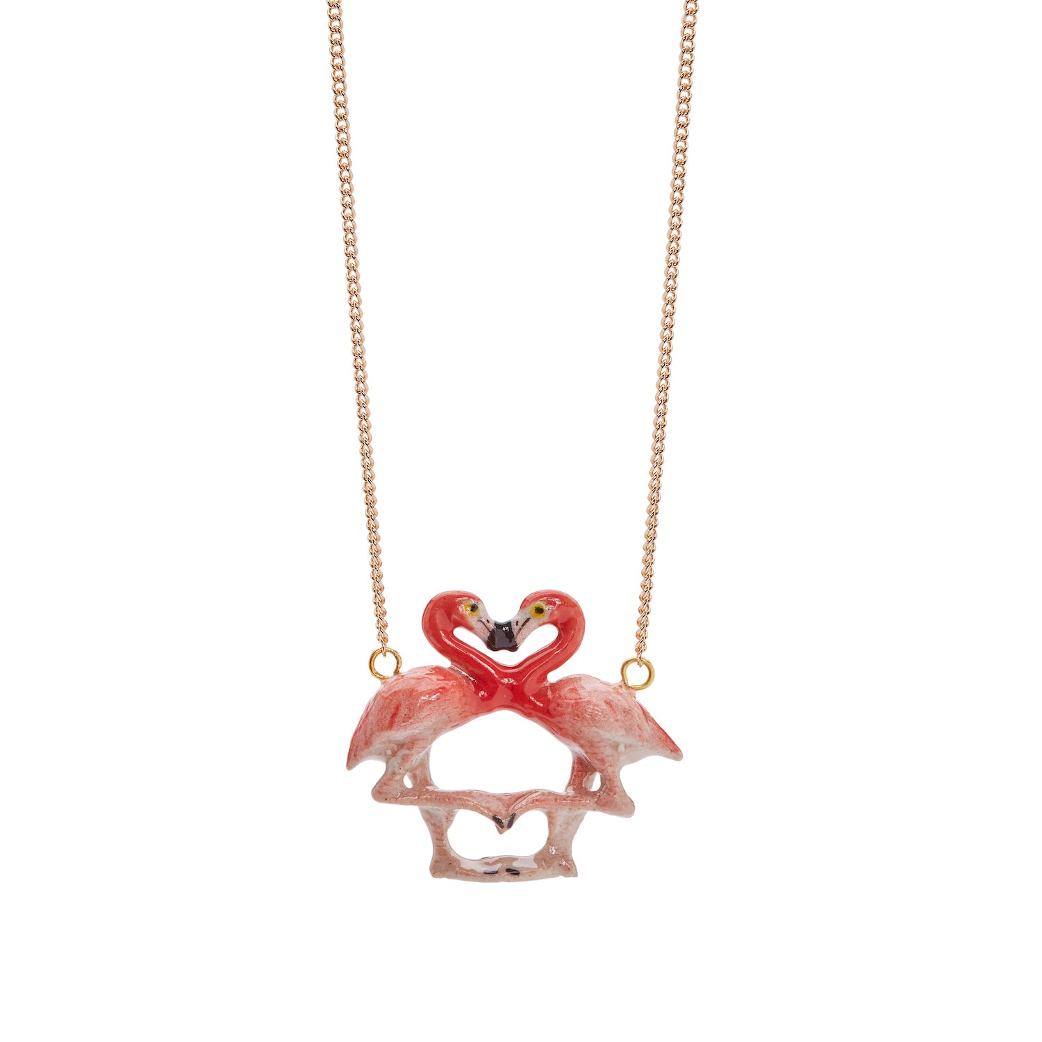Flamingo Kissing Necklace