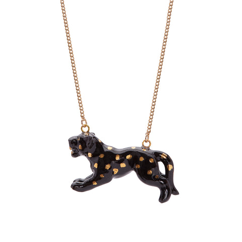 Leaping Panther Necklace