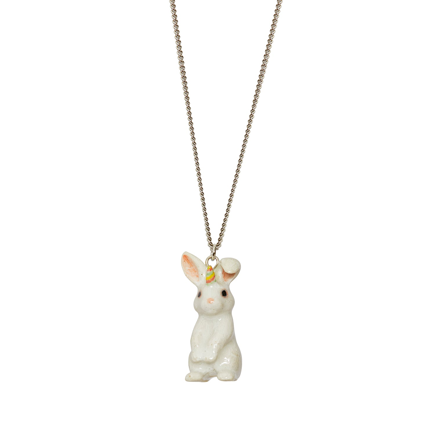 Pastel Unicorn Bunny Necklace