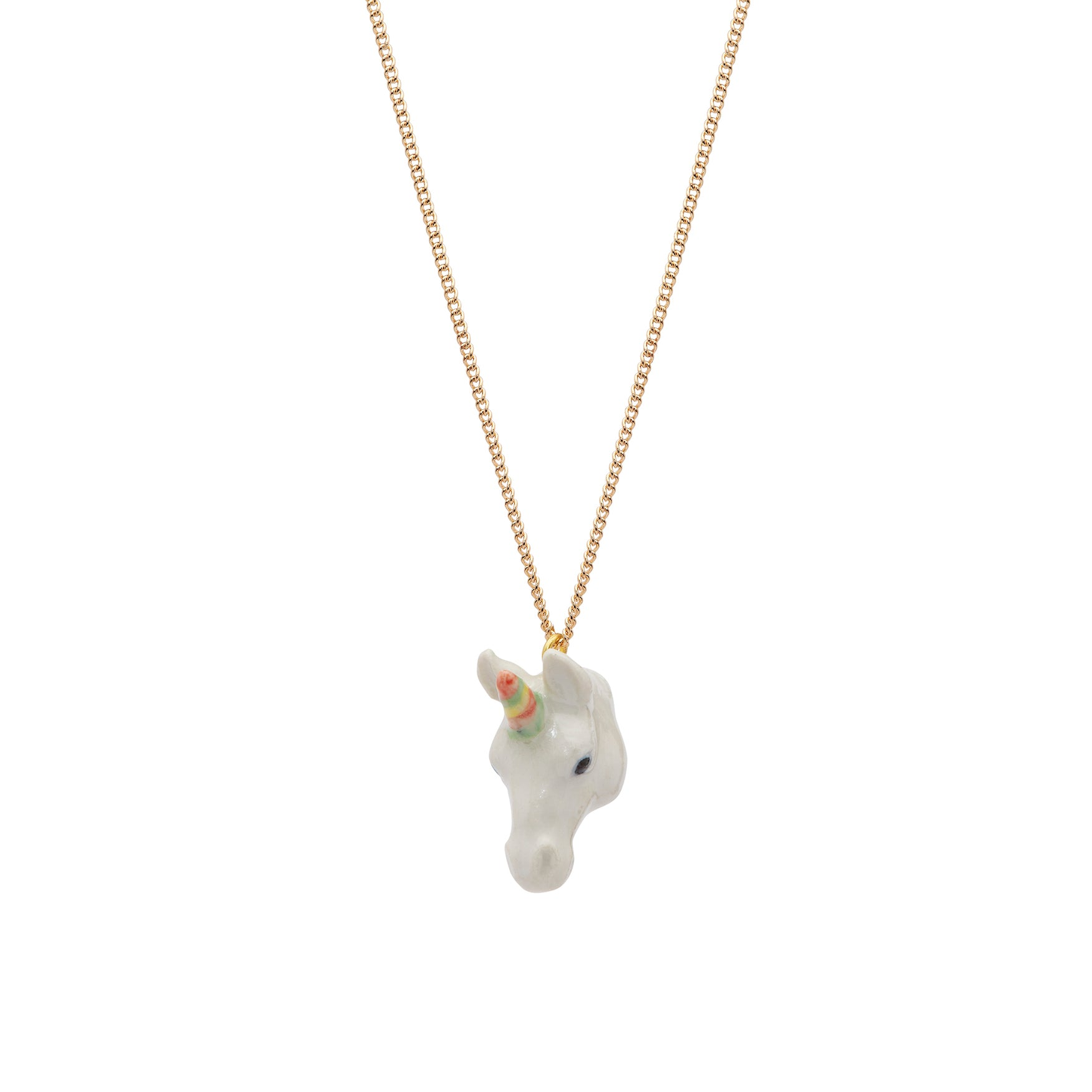 Pastel Unicorn Head Necklace