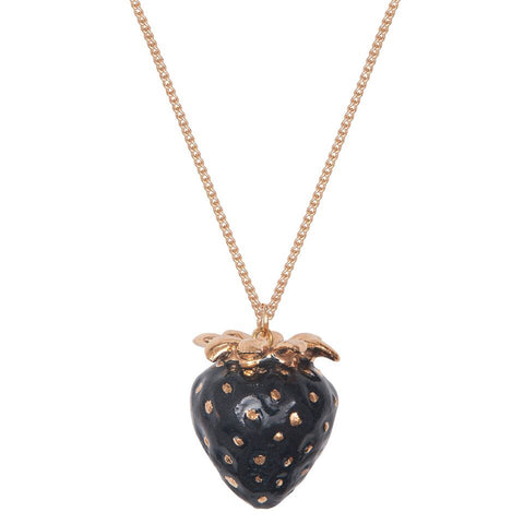 Black Strawberry Necklace
