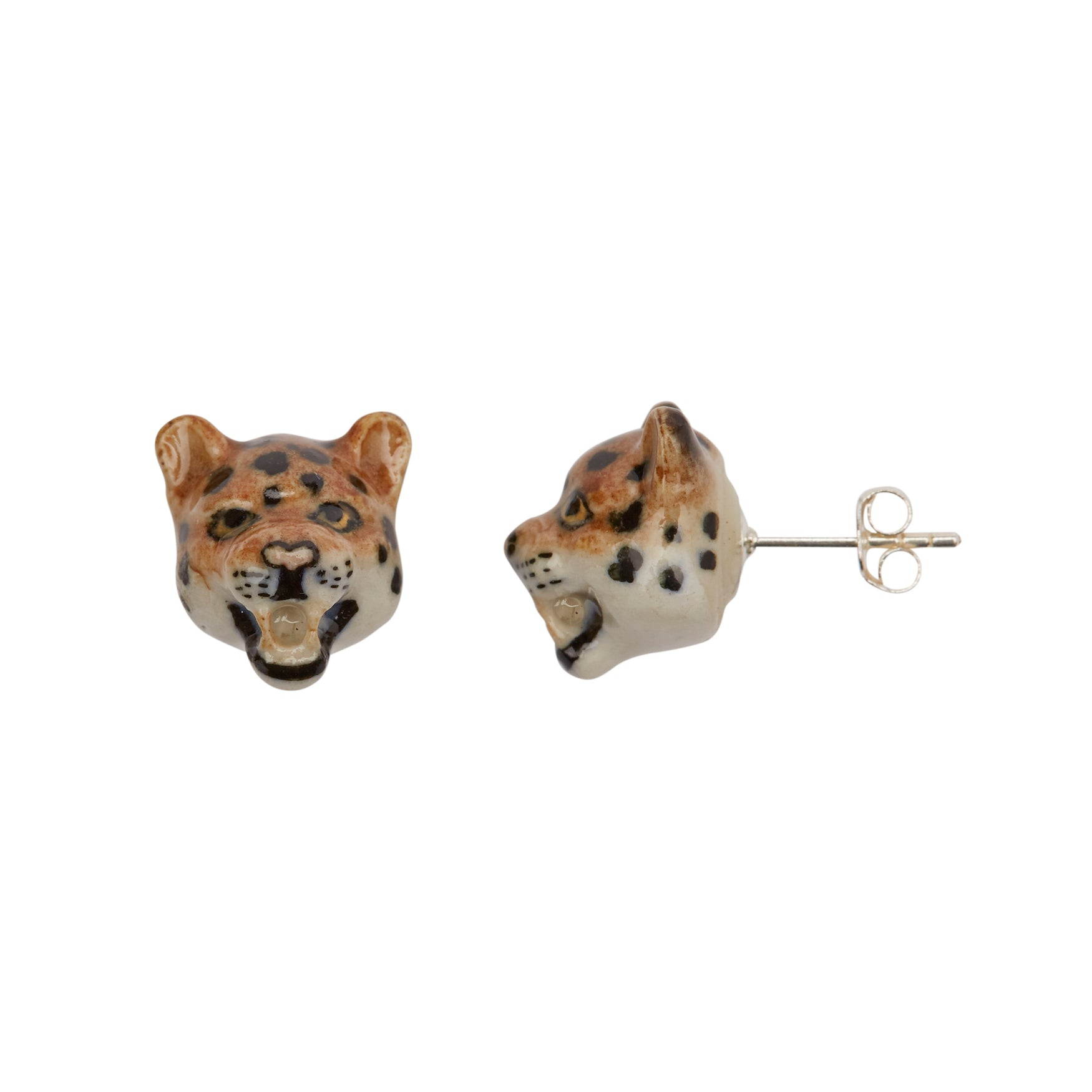 Roaring Leopard Earrings