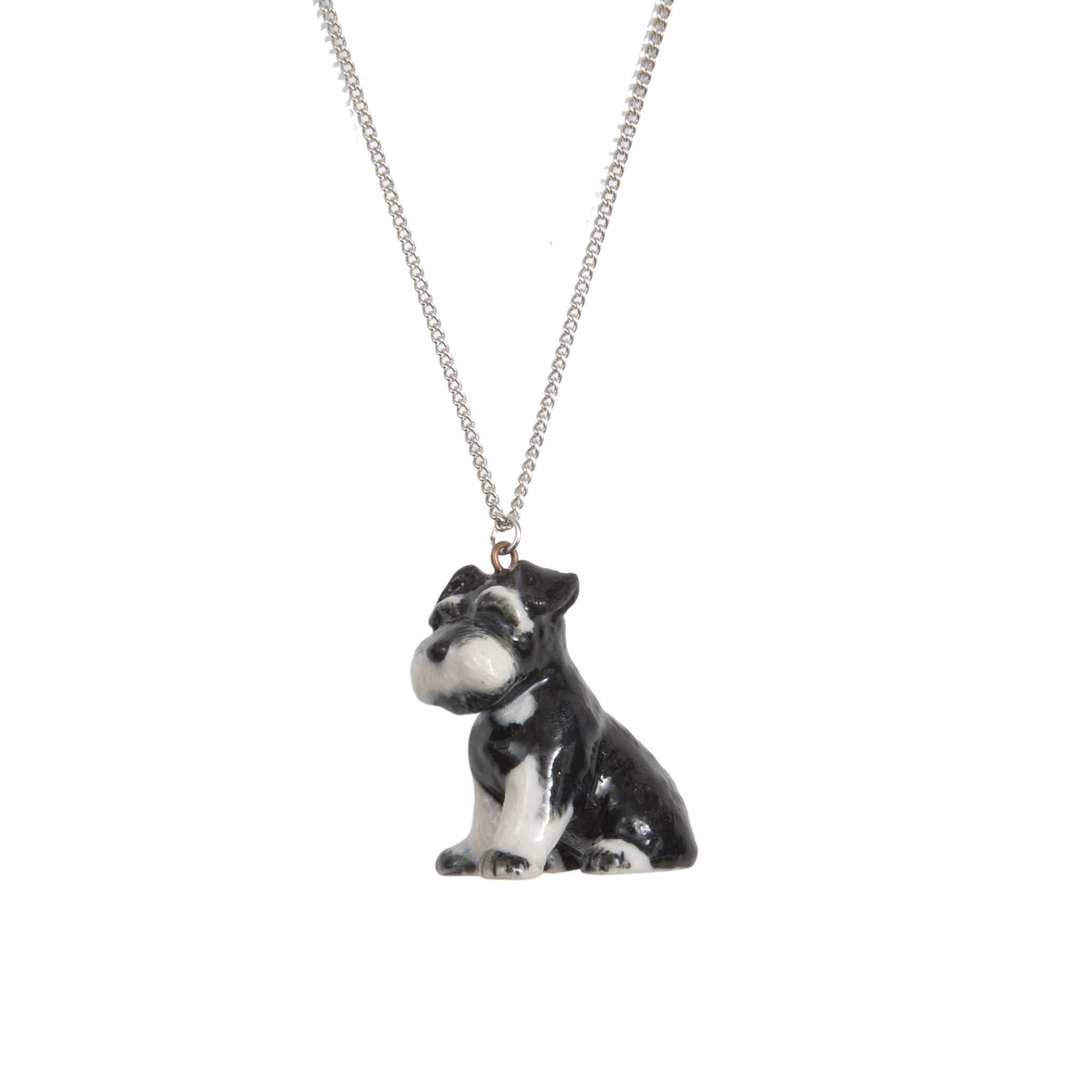 Sitting Schnauzer Necklace