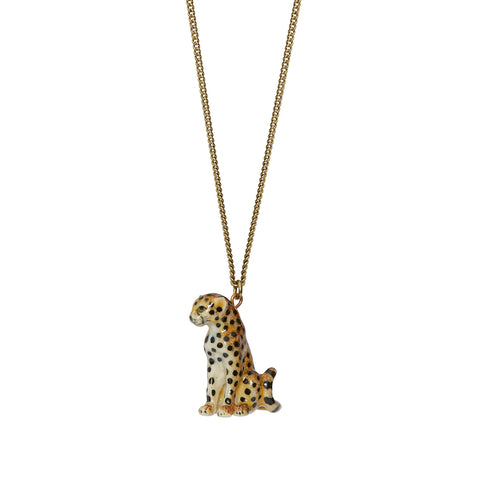 Sitting Cheetah Necklace