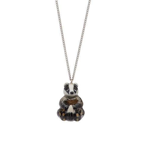 Sitting Badger Necklace
