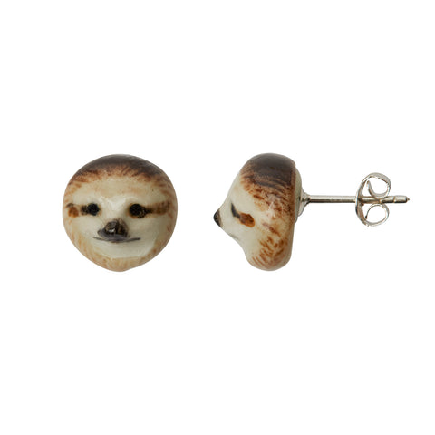 Sloth Head Stud Earrings