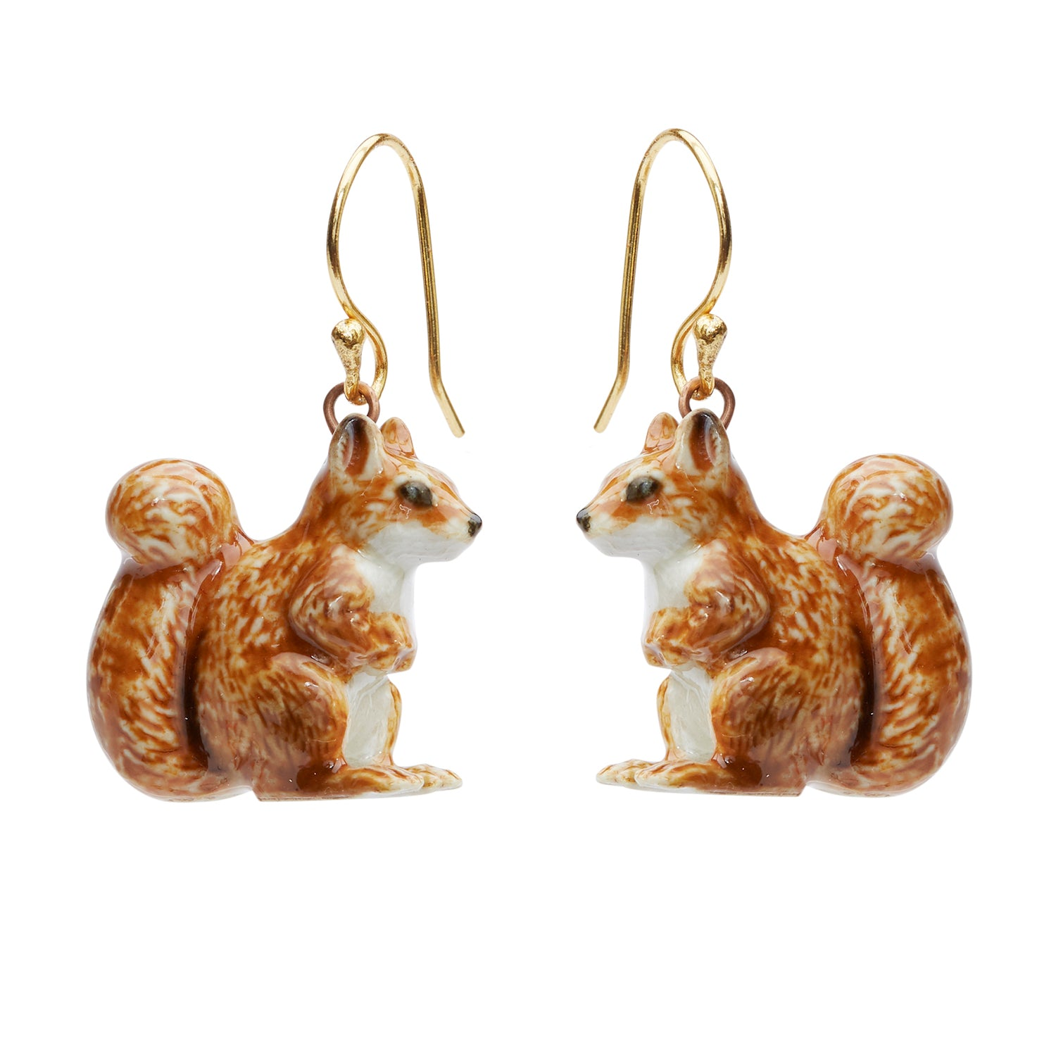 Tiny Standing Squirrel Earrings
