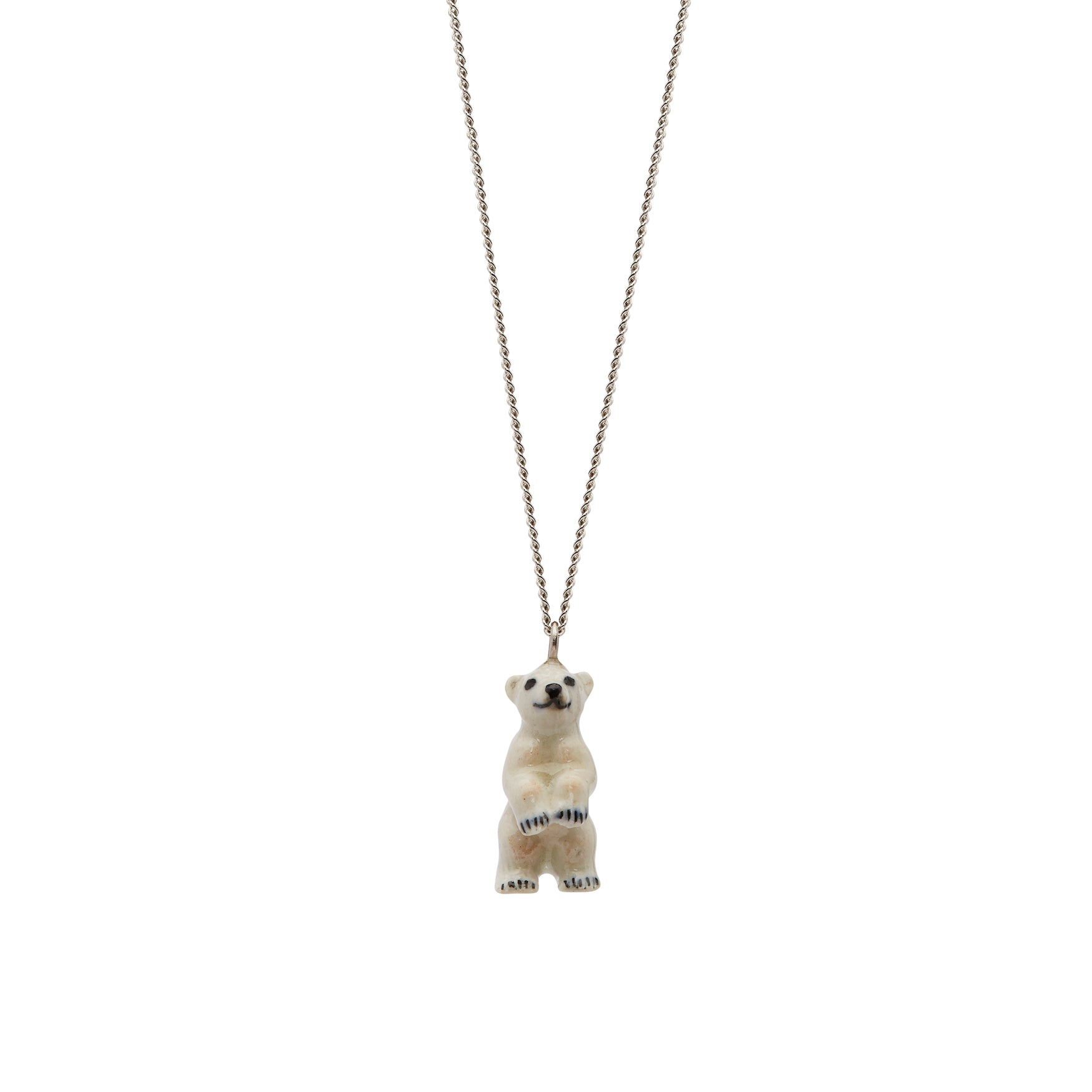 Tiny Standing Polar Bear Necklace