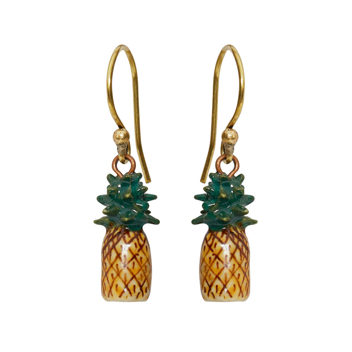 Tiny Pineapple Hook Earrings