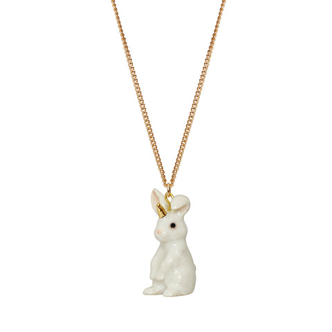 White Unicorn Bunny Necklace