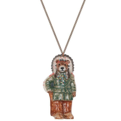 Native American Bear Necklace