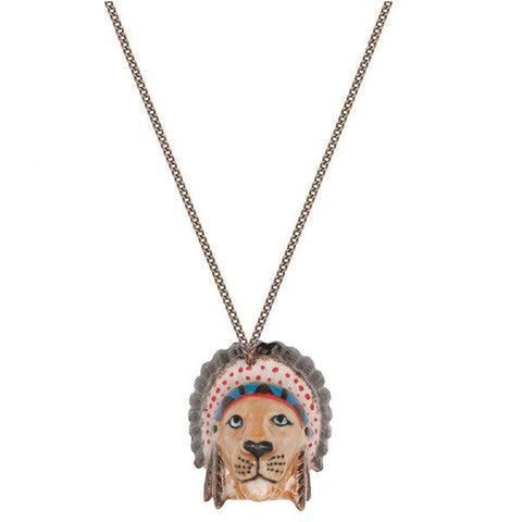 Native American Lion Head