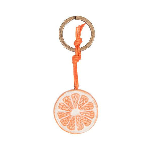 Orange Slice Keyring