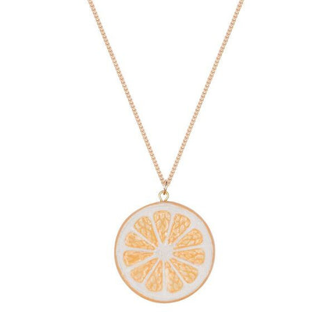 Lemon Citrus Slice Necklace