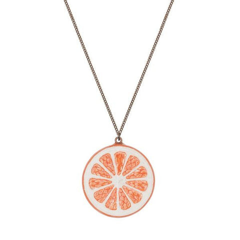 Orange Citrus Slice Necklace