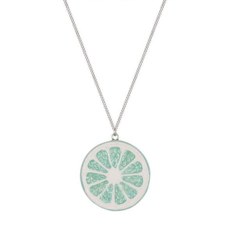 Lime Citrus Slice Necklace