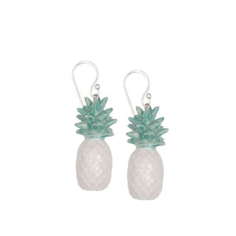 Mint Pineapple Earrings