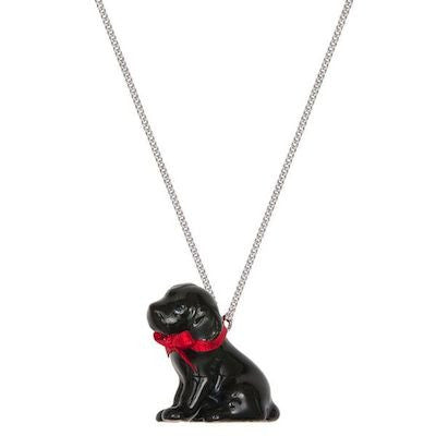 Black Labrador Puppy Necklace