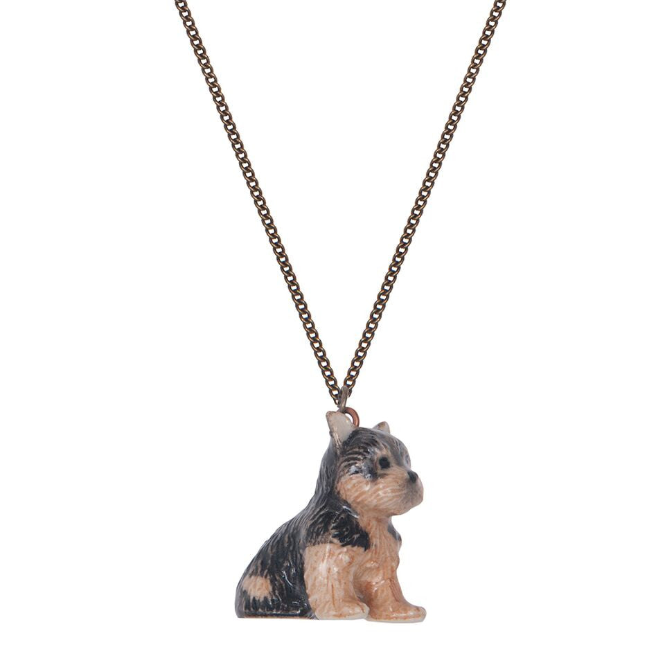 Tiny Yorkie Puppy Necklace