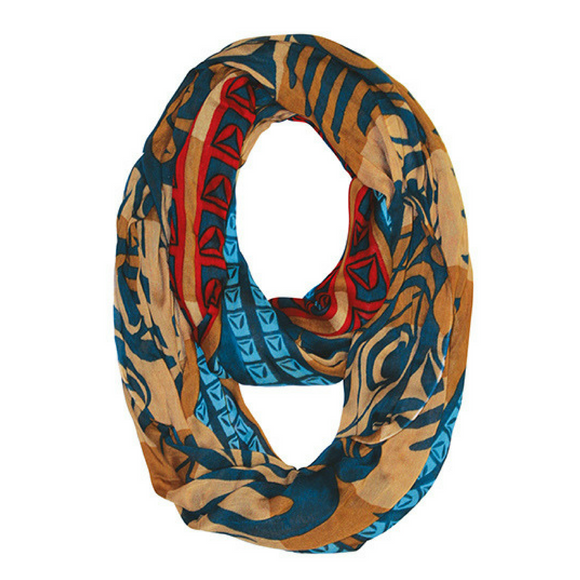 Bamboo Circle Scarf - Strengthening Our Spirit by Joe Wilson-Sxwaset