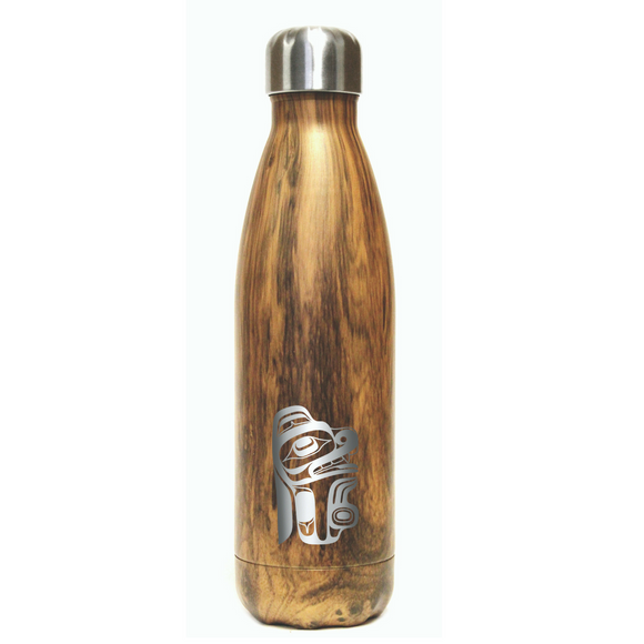Large Insulated Bottle - Gentle Bear by Ernest Swanson