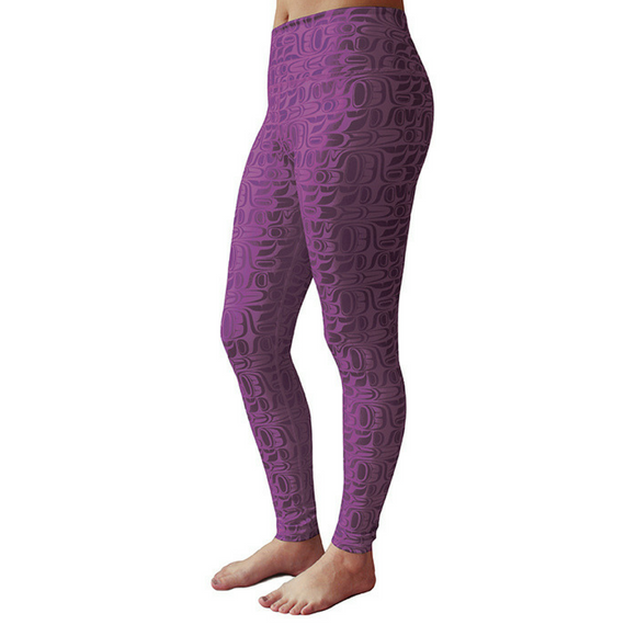 Performance Leggings, Purple - Pacific Formline by Paul Windsor