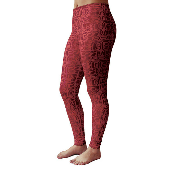 Performance Leggings, Burgundy - Pacific Formline by Paul Windsor