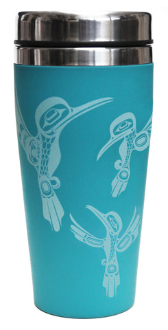 Travel Mug 16oz  - Hummingbirds by Ernest Swanson