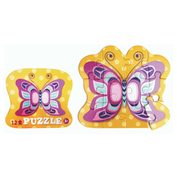 12 Piece Puzzle - Butterfly by Eugene Isaac