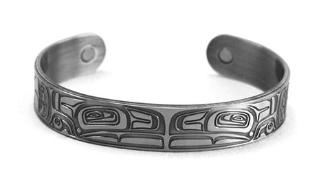 Brushed Silver Bracelet - Thunderbird by Morgan Green