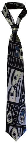 Silk Tie - Chilkat by T.J. Sgwaayaans Young