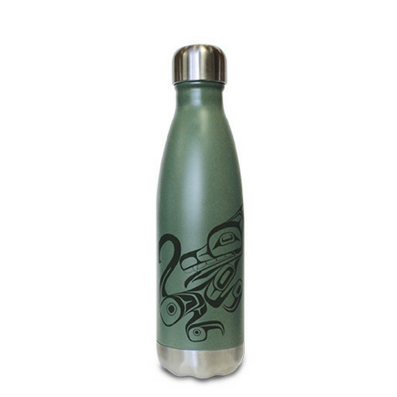 Insulated Bottle - Wolf by Phil Gray (16 oz)
