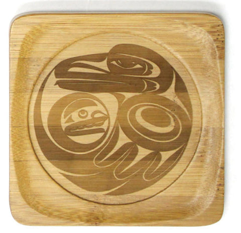 Bamboo Coaster - Raven by Maynard Johnny Jr
