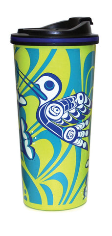 Travel Mug 16oz - Hummingbird by Kwiaahwah Jones