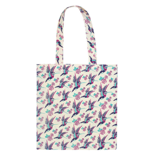 Cotton Eco Tote - Hummingbird by Karen Francis